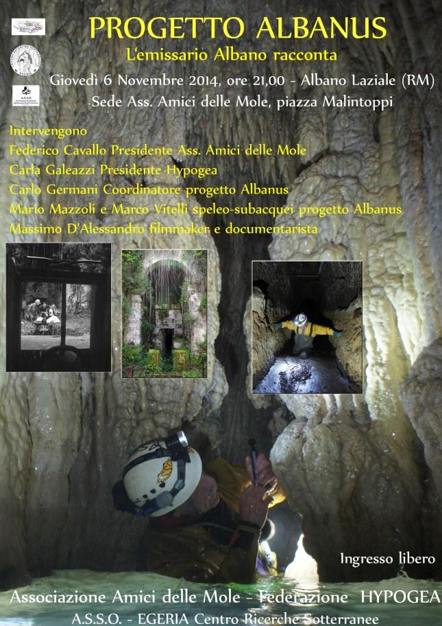 Locandina Invito serata Progetto Albanus