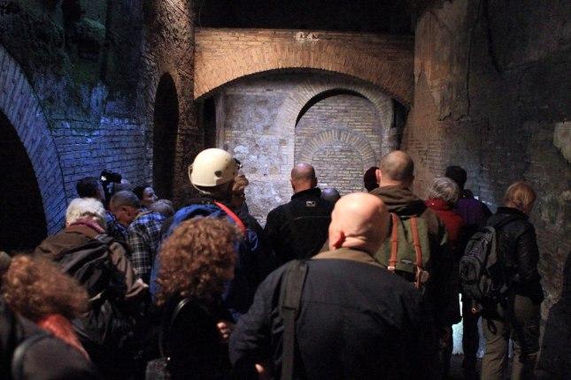 Visite agli ipogei di Roma Congresso Hypogea2015. Foto Antonio De Paolis (Archivio Egeria CRS).