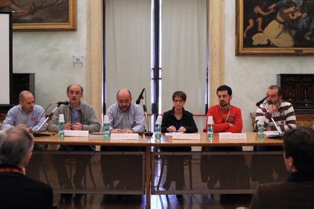 Tavola rotonda Mundus Subterraneus in conclusione del Congresso presso la Sala Pietro da Cortona dei Musei Capitolini. Foto Antonio De Paolis (Archivio Egeria CRS).