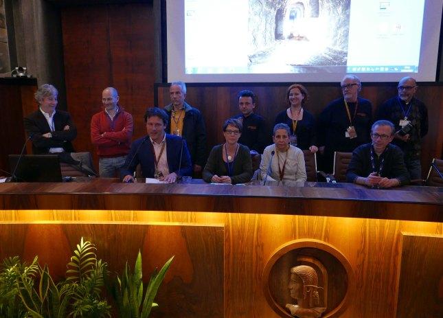 Il Comitato Organizzativo del Congresso HYPOGEA2015. Foto Boaz Zissu, per gentile concessione.
